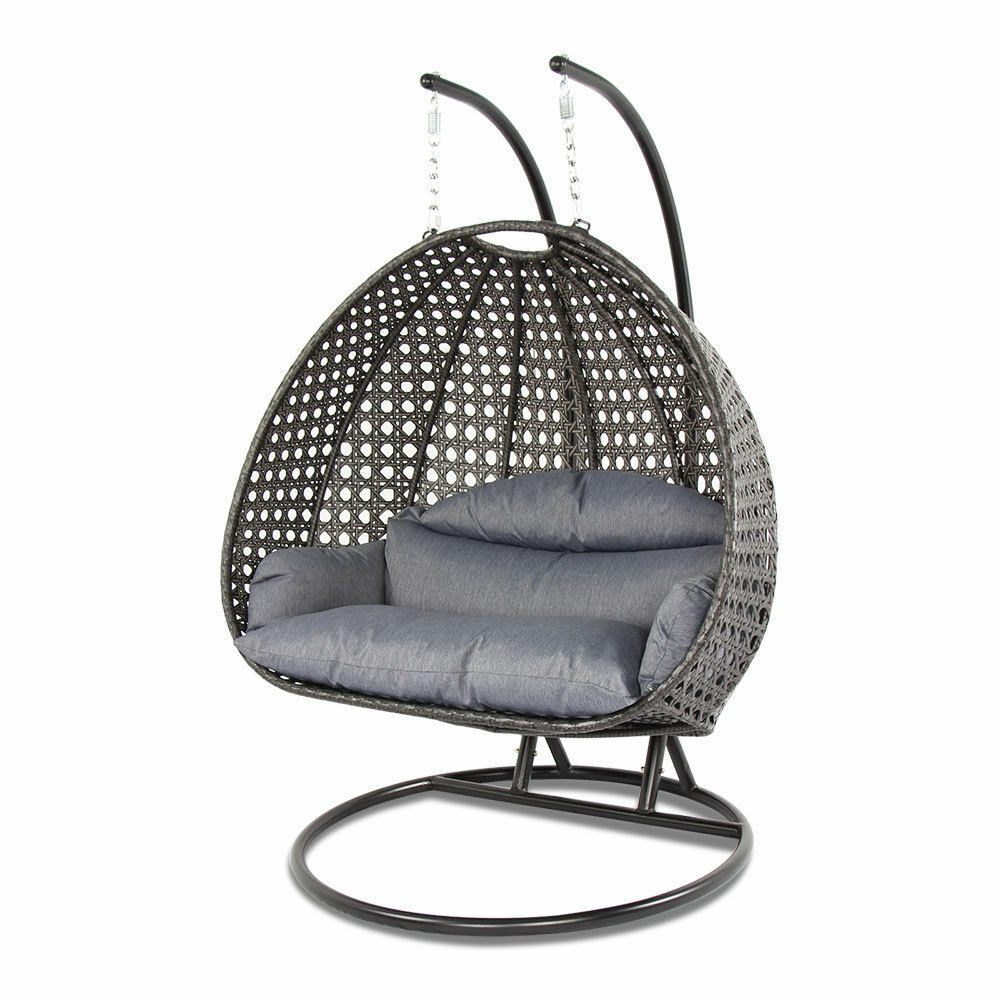heavy duty outdoor 2 person hanging hammock egg porch chair wicker swing chair ebay. Black Bedroom Furniture Sets. Home Design Ideas