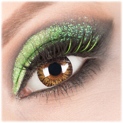 Farbige hellbraune Kontaktlinsen Glamour Circle Lens FunnyLens 3 Monats Linsen