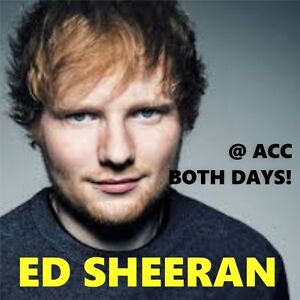 ED SHEERAN @ACC –AMAZING CENTRE FLOORS! CHEAP TICKETS 300s &MORE