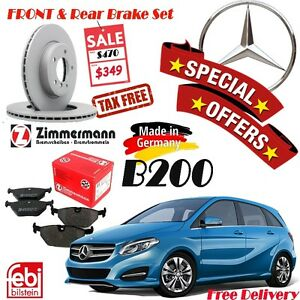Special Offer Mercedes Benz B200 Brake Sets (Rotor/Pad/Sensor) Cambridge Kitchener Area image 1