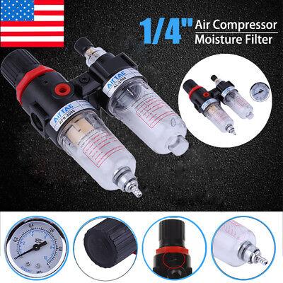14 Air Compressor Oil Water Regulator Filter Pressure Gauge Moisture Trap Eko