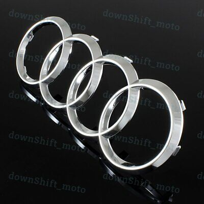 For Audi Front Rings Grill Grille Hood A3 A4 S4 A5 S5 A6 S6 Badge Emblem Chrome