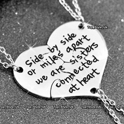 Best Friends Sisters Daughter Niece Xmas Gifts for Her Heart Silver Necklaces (Best Xmas Gifts For Her)