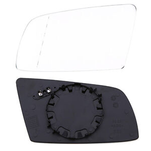 Left Driver Side Mirror Glass Fit BMW 5-Series 6-Series Heated Base W/Holder