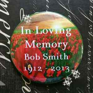 PERSONALIZED WEDDING FUNERAL MEMORIAL BUTTONS STICKERS TATTOOS Cambridge Kitchener Area image 7