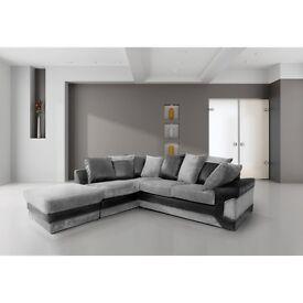 **1 Year Warranty!** - Dino Premium Fabric Corner Sofa Suite - EXPRESS DELIVERY!