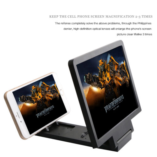 DevileLover Magnifying Amplifying with Wood Grain Stand Bracket Glass 3D HD Movie Video Amplifier 14 inch Foldable Stand Holder for Smart Phone Screen Amplifier,D