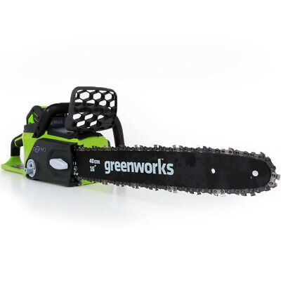 Greenworks 40V 16-Inch Cordless Lithium-Ion Brushless Chainsaw, 4.0 AH Battery