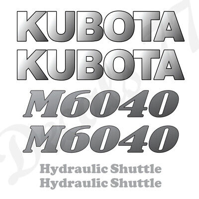 Kubota M6040 Hood Decals Stickers Set
