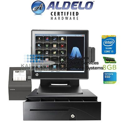 Aldelo Pro Hp Cafe Restaurant All-in-one Complete Pos System Bundle New I58gb