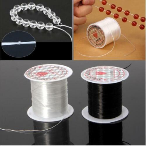 Crystal clear 0.8mm elastic for bracelet making 2x10m UK seller