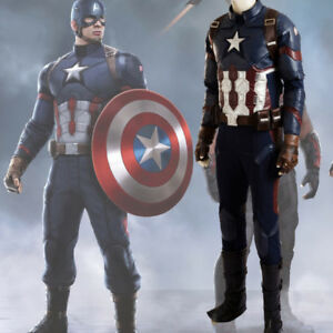 High Quality Captain America Civil War Cosplay Costume