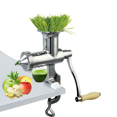 Hand Manual Wheatgrass Juicer Heavy Duty Stainless Steel Leafy Green Juicer DIY