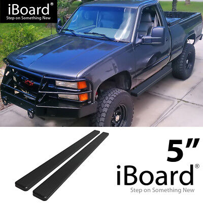 Running Board Side Step 5in Black Fit Chevy/GMC C/K Pickup Regular Cab