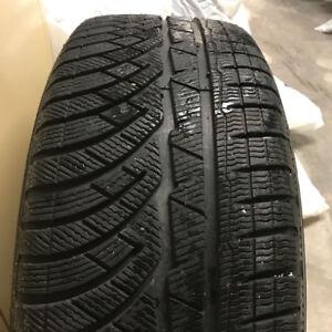4 x 255/35/19 MICHELIN alpin pa4 WINTER tires %90 %95 tread left