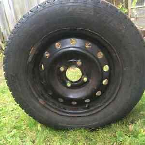 4 Cooper Weather Master Winter tires on rims