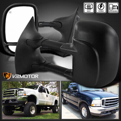 Fit 1999-2007 Ford F250 F350 Super Duty POWER+HEATED Towing Side Mirrors Pair