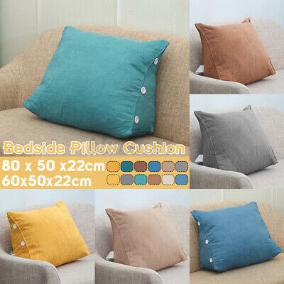 Ergonomisches Rückenkissen Dreieckiger Keilkissen Fersehkissen für Sofa Bett DE