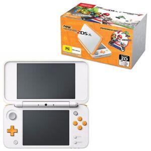 Nintendo 2DS XL with Mario Kart 7 Pre Installed - Orange & White
