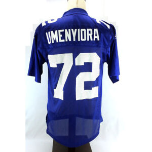 Osi Umenyiora Jersey 72 New York Giant Home Stitched Embroidered