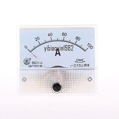 1pcs New 85c1 Dc 0-100a Rectangle Analog Panel Ammeter Gauge Ampere Meter