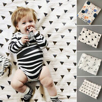 100% Cotton Soft Muslin Newborn Baby Swaddling Blanket Infant Swaddle Towel Top - unbranded - ebay.co.uk