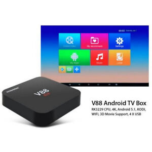 NEW V88 Android TV Box QUAD CORE, 4K, Android 5.1, KODI,