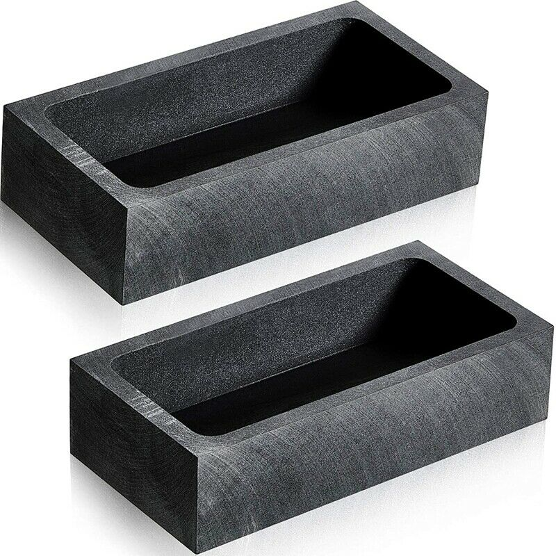 2 Pieces 1 KG Graphite Ingot Mold Crucible Mould for Melting Casting Refining