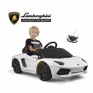 Licensed 6V Lamborghini Kids Ride on Car in WHITE/YELLOW/ORANGE