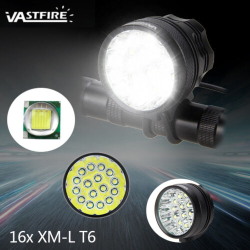 Brightness 30000LM 11x XML T6 LED Bicycle Cycling Headlight Light 12000mAh Lamp