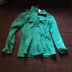 Green sweater/coat size extra small London Ontario image 1