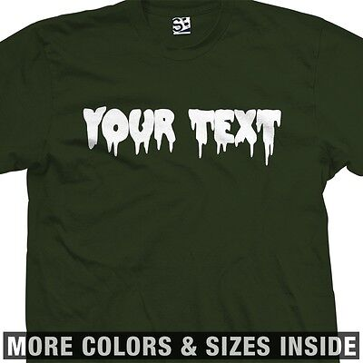 Custom Creepy Scary Font T-Shirt - All Sizes & Colors - Scary Customs