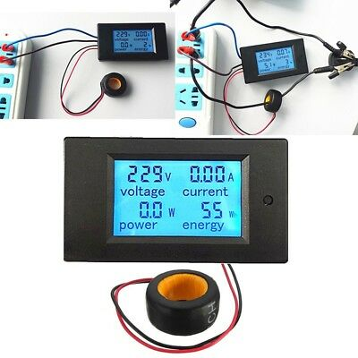 LCD AC 80-260V 0-100A Digital Voltage Volt Current Meter Panel Power Energy NEU Ac Power Meter
