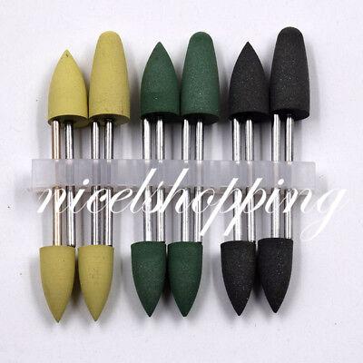 12pcs 1 Kit Dental Silicone Base Acrylic Polishers Resin Polishing Burs 2.35mm