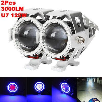 2X CREE U7 LED Spot Driving Light For Yamaha V-Star XVS 250 650 950 1100 1300
