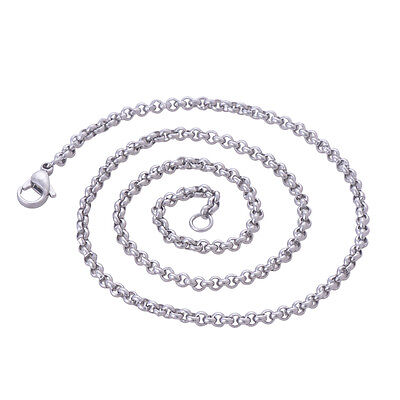 - Stainless Steel 20 Inch(50 cm) 3mm Ball Tiny Rolo Neck Chain Necklace