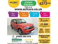2011 RED RANGE ROVER SPORT 3.0 SDV6 HSE DIESEL AUTO CAR FINANCE FR £273 PCM