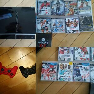 Playstation 3, 2 controllers and games Kitchener / Waterloo Kitchener Area image 1