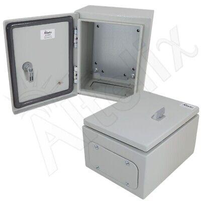 Altelix 10x8x6 Nema 4x Steel Weatherproof Enclosure With Steel Mounting Plate
