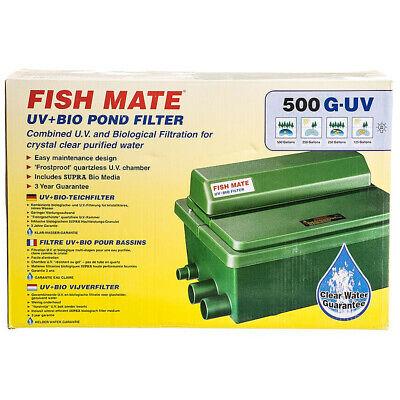 Fish Mate UV+Bio Pond Filter 500 G-UV for Ponds 125-500 Gallons - Mate Pond Filter