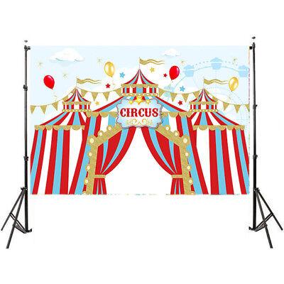 circus theme birthday stripes children backdrop newborn photobooth printed photo - Circus Themed Backdrop