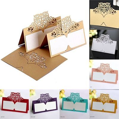 Party Place Cards (Name Place Cards Table Card Seating Seat Laser Cut Decor Party 50)