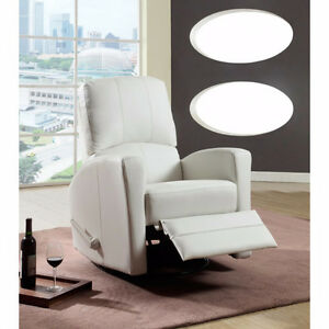 CHAISE BERCANTE COULEUR BLANC PIVOTANTE  INCLINABLE