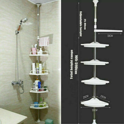 4Tier Bathroom Bathtub Shower Caddy Holder Corner Rack Shelf Organizer Accessory