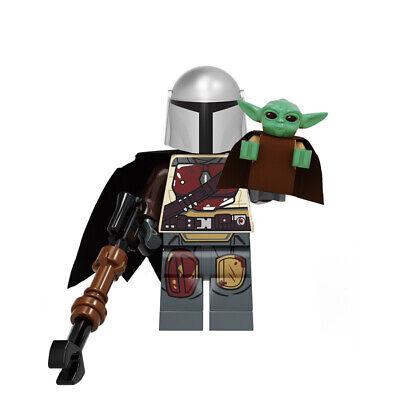 The Mandalorian Star Wars Din Djarin Mando Baby Yoda fit lego custom mini figure