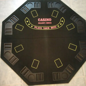 48 inch folding 8 Player Position Poker Table with carrying case