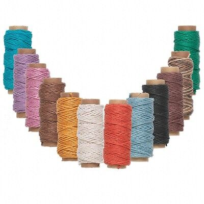 (Bulk Lot 12 Spools Polished Hemp Cord String Mixed Colors 3-Ply 20 Lb 348 Ft)