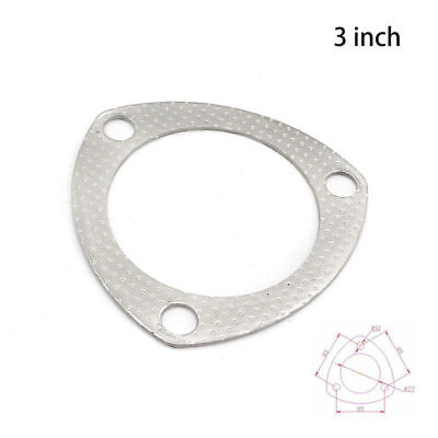 """3"""" Catback Exhaust Gasket Header Down Pipe Manifold Collector Flange 3 Bolt"""