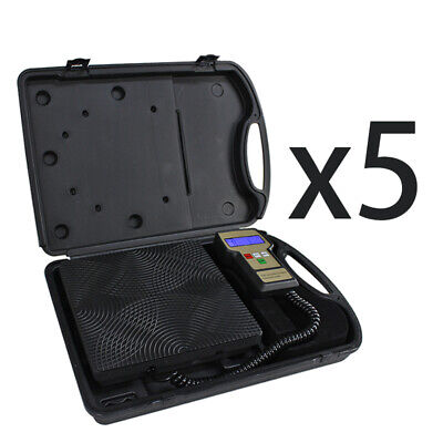Electronic Refrigerant Charging Digital Weight Scale With Case Hvac 220 Lbs 5x