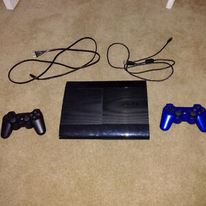 PS3 250 GB console with 2 controllers and 25 games